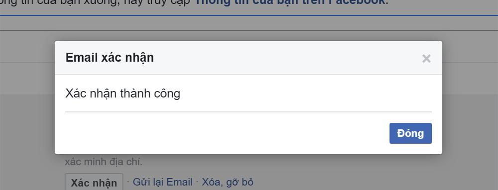 Xác nhận Email thành công