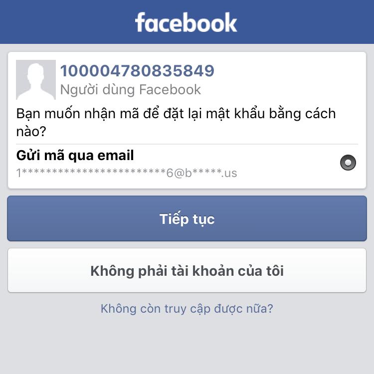 Tài khoản Facebook bị hack đổi email