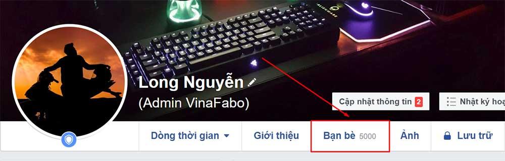 Cách hiện người theo dõi Facebook trên máy tính