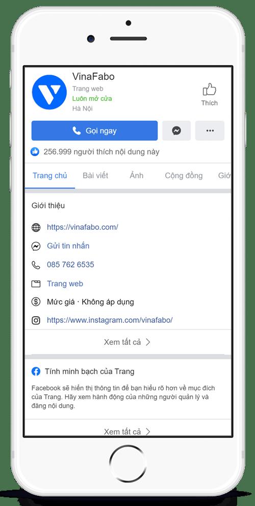 Mua bán fanpage Facebook uy tín giá rẻ - VinaFabo