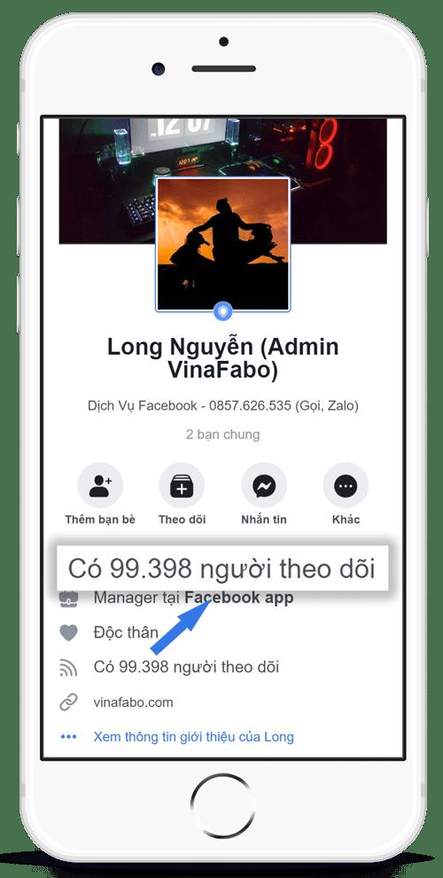 Dịch vụ tăng theo dõi Facebook - VinaFabo